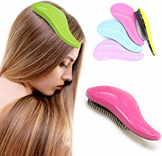 1 piece New Magic Anti-static Hair comb Fashion TT plastic Hair Brushes Detangling Handle