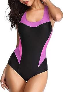 Women's Boyleg One Piece Swimsuits Sport Bathing Suits Teens Athletic Training Pro Boy Short Swimwear Swimming Suit
