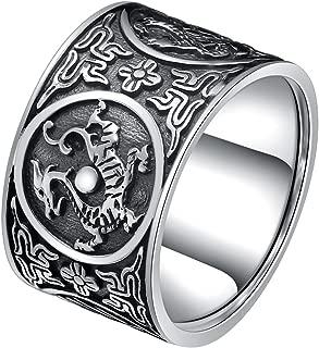 GUANLIAN 999 Silber Schmuck Mode Free Size Buddhistic Heart Sutra Ringe Geschenke
