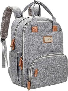 MOON Kary Me Diaper Bag Backpack, Multifunction Travel Back Pack Maternity Baby Changing Bags, Large Capacity, Waterproof ...