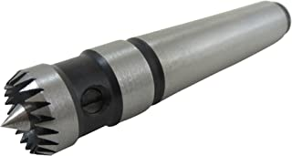 Taytools 605006 5/8 Inch Diameter Multitooth Drive Center Spring-Loaded Point Morse 2 Taper MT2