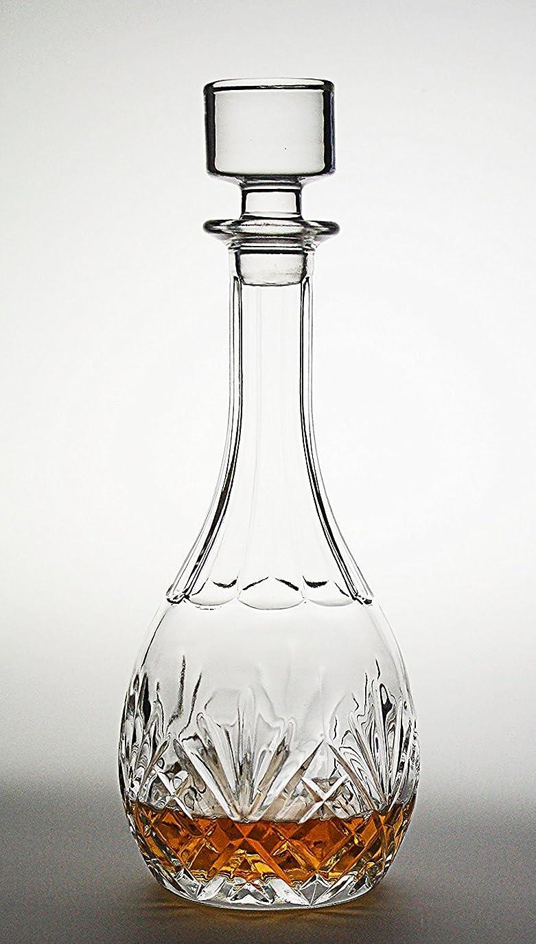 広まった三角形怠けたBezratワインデカンタ - 100%手吹き鉛フリークリスタルガラス、赤ワインのデカンタ、ワインの贈り物、ワインのアクセサリー