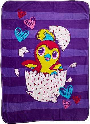 Hatchimals Plush Throw for Kids Girls 46 x 60 Pink Purple, 46x60