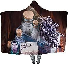 UKSILYHEART Hooded Blanket 130x150cm Wearable Blanket Lavender Soap and Sea Salt Wearable Blanket Adult Women Men Kids Wearable Blanket