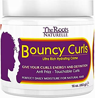 The Roots Naturelle Curly Hair Products Bouncy Curls (16 Ounce). Anti-Frizz Cream.