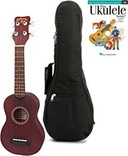 Kohala KO-S Kine'O Soprano Ukulele Satin Natural Starter Kit with Instruction Book and Gig Bag
