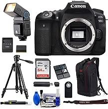 Canon EOS 90D DSLR 4K Video Camera (Body Only) + 64GB SDXC + 53