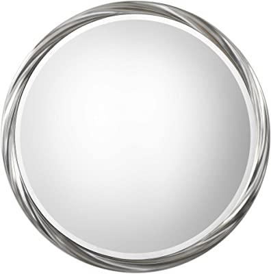 Vhomes Lights Orion Silver Round Mirror