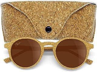 Okulars® Oak - Occhiali da Sole in Sughero Naturale, Ultra-leggeri, Uomo e Donna - Lenti Anti-Riflesso Polarizzate UV400 -...