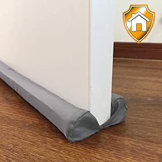 MAXTID Bottom Door Draft Stopper 32 to 38 inches Grey Adjustable Insulation Sound Proof Door Draft Blocker for Noise Light Smell Stopper