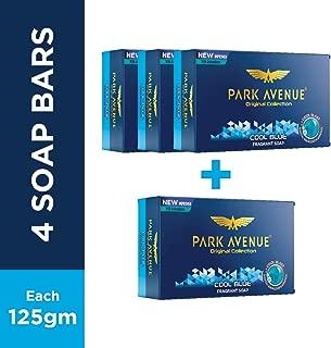 Park Avenue Soap Cool Blue, Fragrant Soap, 125 grams, 4.4 oz - pack of 4 (total 4 soaps)