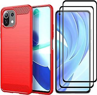Wuzixi för Realme GT 5G Master Case + [2-pack] HD härdat glas skärmskydd, silikonfodral, stötsäkert och hållbart, telefons...