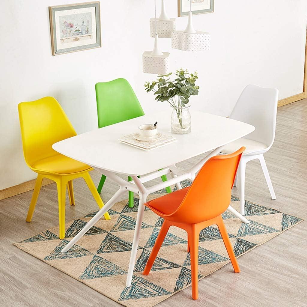 SLL- Chaise de Salle, Chaise de Bureau Simple, créative Dossier, Chaise Loisirs, Maison Adulte Chaise de Salle Moderne (Color : Green) White