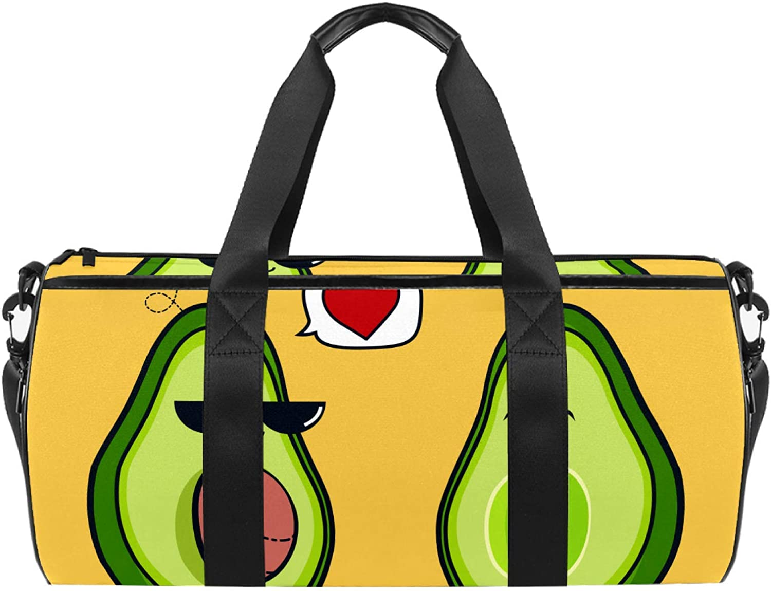 Funny Avocado High Ranking TOP13 quality new Sports Gym Bag with Cylindrical bag Travel Duffel