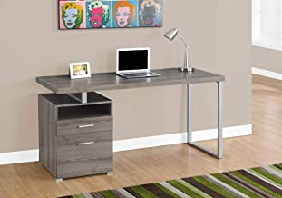 Monarch Specialties 7145 Computer Writing Desk for Home & Office Laptop Table with Drawers Open Shelf and File Cabinet-Left or Right Set Up, 60