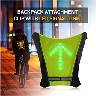 FANCYWING LED Turn Signal Bike Pack Accessory/LED Backpack Widget with Direction Indicator - USB...