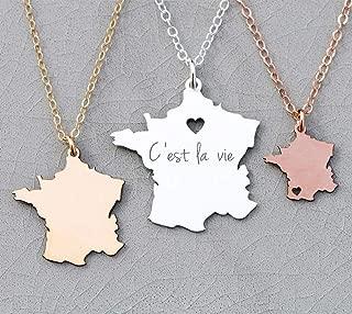 paris coordinates necklace