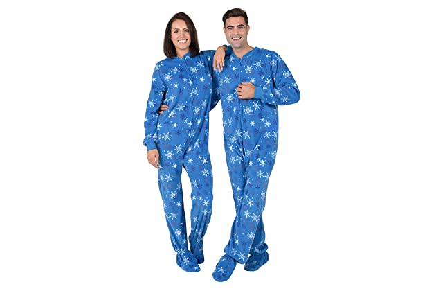 0e1624339146 Footed Pajamas - Its A Snow Day Adult Fleece Onesie
