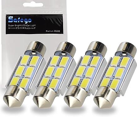Njytouch 10PCS 31mm 2SMD 5050211bianco caldo cupola festone mappa interni lampadine LED Parti per auto