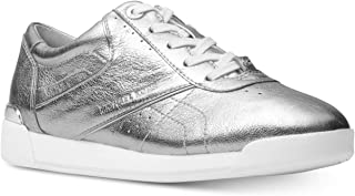 Michael Kors Womens Addie LACE-UP Sneakers Silver 6.5M