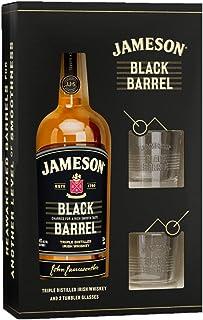 Jameson Whiskey BLACK BARREL Triple Distilled Irish Whiskey 40% Volume 0,7l in Geschenkbox mit 2 Gläsern Whisky