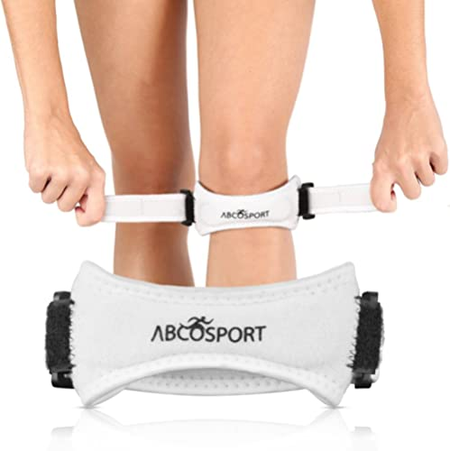 Abco Tech Patella Knee Strap - Knee Pain Relief - Tendon and Knee Support for Running, Hiking, Soccer, Basketball, Vo...