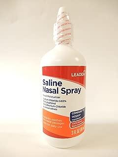 Leader Saline Nasal Spray, 3oz. Per Bottle (2 Pack)