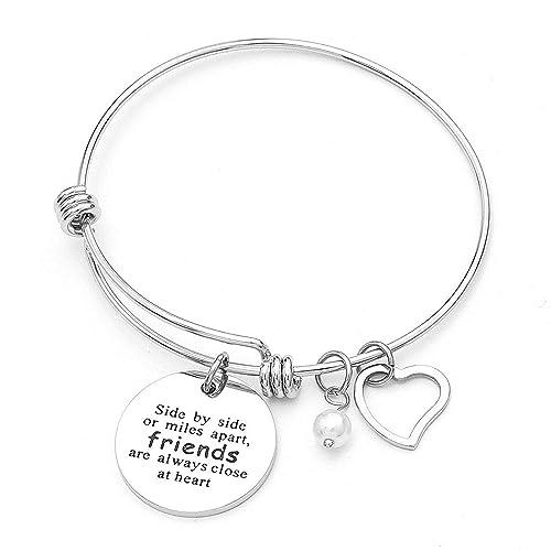Anson&Hailey Charm Bracelet Best Friends and Inspirational Bracelet Bangle Bracelets Adjustable,Friendship Gifts,Sister Gift Jewelry …