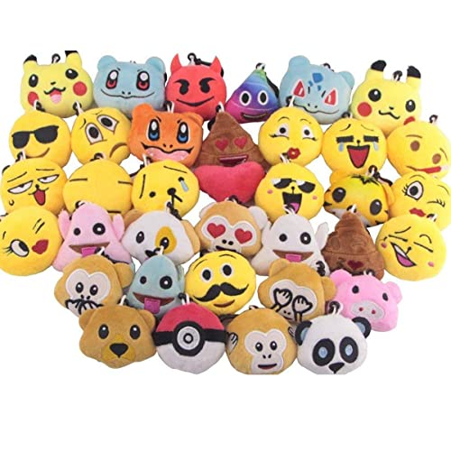 RI novelty Llama//Alpaca Keychain 12 Pack Backpack Clips Plush for Party Favors Supply