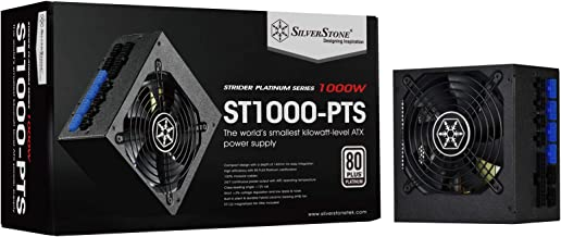 SilverStone Technology 1000 Watt Fully Modular 80 Plus Platinum Power Supply in Ultra Compact 140mm in Depth ST1000-PTS