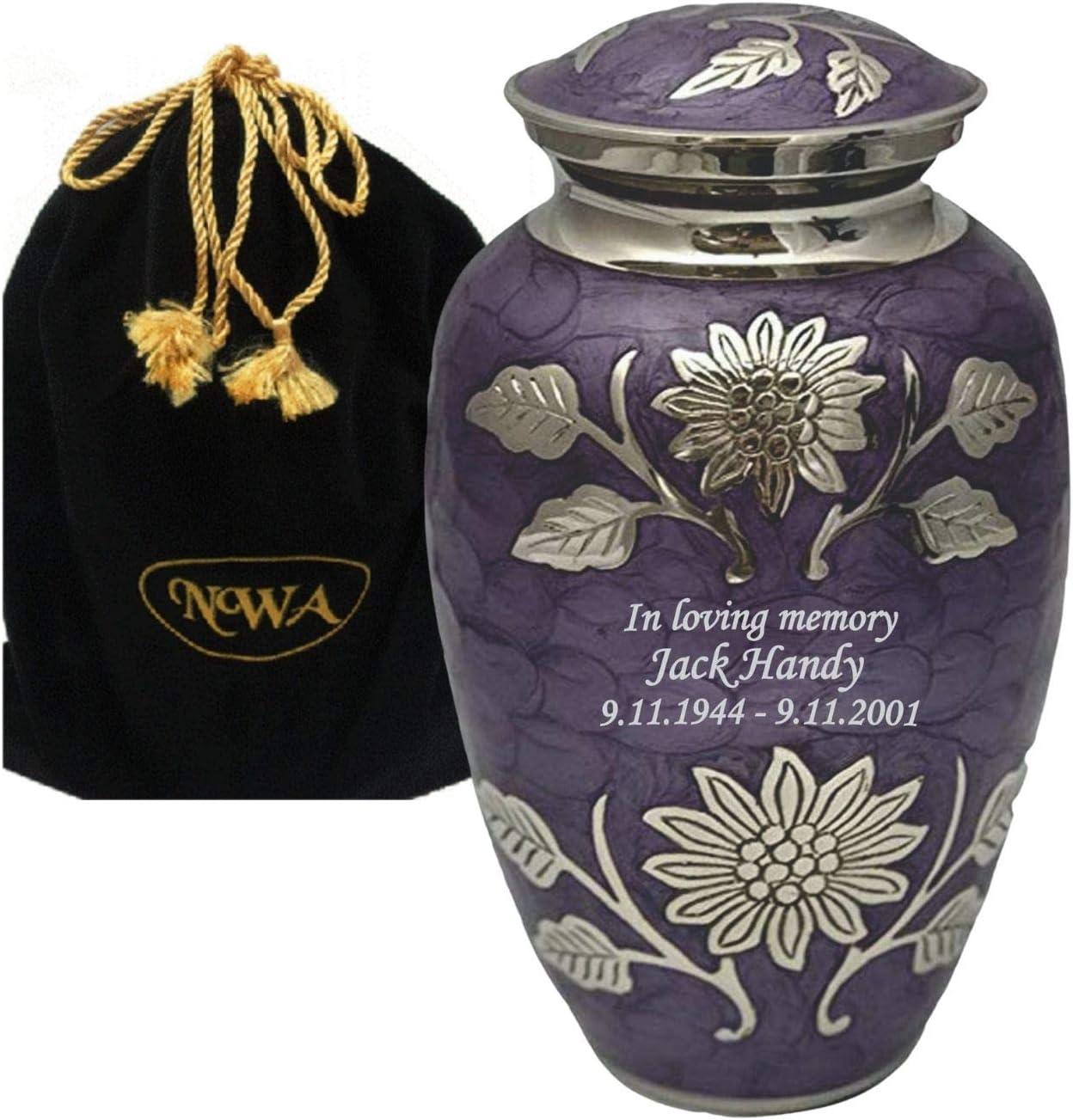 Large Custom Engraved Brass depot Lavender Urn Cremation Attention brand