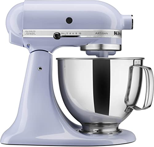 popular KitchenAid high quality KSM150PSLR Artisan Series sale 5-Qt. Stand Mixer with Pouring Shield - Lavender Cream sale