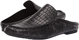 Black Croc Full Grain Leather