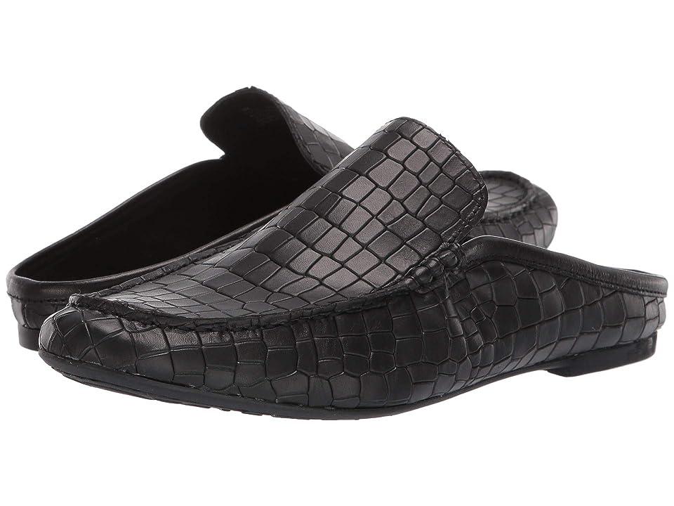 Born Capricorn Annamaria Collection (Black Croc Full Grain Leather) Women