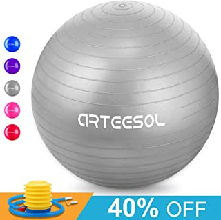 arteesol Exercise Yoga Ball, Extra Thick Stability Ball...