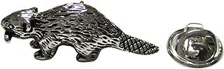 Silver Toned Beaver Lapel Pin
