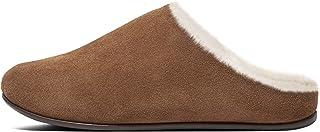 FitFlop Women's Chrissie Shearling Slipper, Tumbled Tan - 8.5 M US