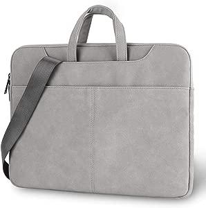 iCasso Laptop Shoulder Bag 15 6 inch  Waterproof Leather Laptop Bag Br...