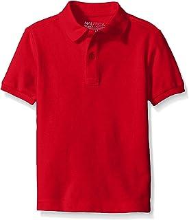 Nautica Boys' School Uniform Short Sleeve Pique Polo