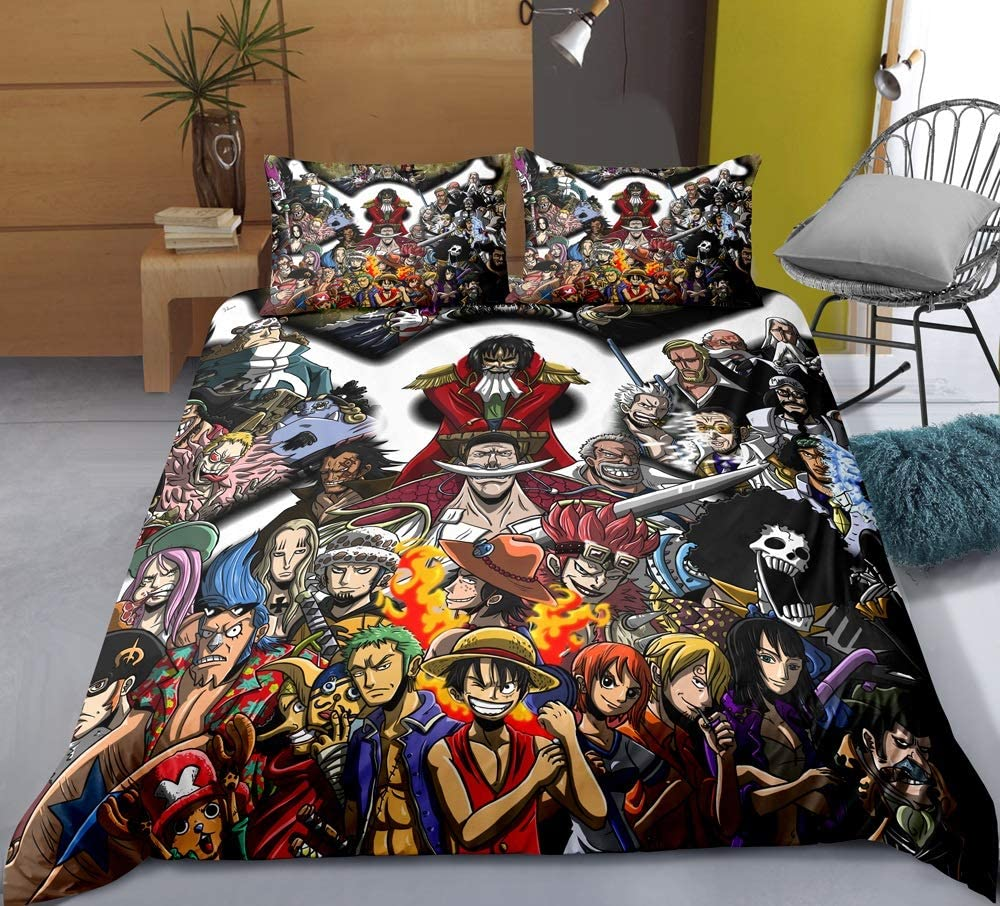YUBAIBA Anime Duvet Cover Max 43% OFF for High order One Piece: Straw Pri 3D Hat Group
