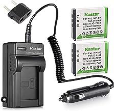 Sponsored Ad - Kastar Battery (2-Pack) and Charger Kit for Fujifilm NP-50, Kodak KLIC-7004, Pentax D-Li68 work with Fujifi...
