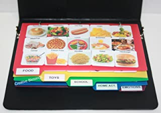 Visual Communication Photo Symbol Book, Autism Language Flash Cards, Vocabulary, Learning Speech Therapy Articulation ASD ADD ADHD & Apraxia