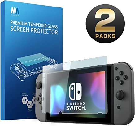 Mumba Nintendo Switch Screen Protector [2 Pack]- Tempered Glass Screen Protector for Nintendo Switch 2017 [9H Hardness] [Anti-scratch] [Bubble Free]