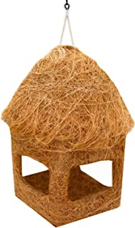 LIVEONCE Safest Open Bird nest Purely Handmadelove Birds/Sparrow/Small Birds Color -Natural