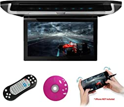 XTRONS 10 inch HD Digital TFT Monitor Car Roof Flip Down Overhead DVD Player Touch Panel Game Disc with HDMI Port Built-in DVD Drive (CR108HDS) (Grey)
