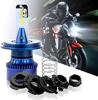 Win Power H4 LED Luz delantera Bulbo para moto Viga alta/Haz de luz Función - HS1/P43t/H6/P15D25-3 Moto Lampara faro 6000K 3600Lm Kit de actualización halógena blanco de xenón, 1 piezas