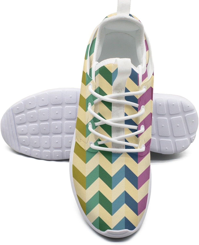 ee65ae94018f3 Women's Fashion Lightweight shoes colorful Herringbone Stripes ...