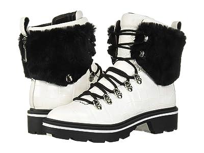 Sigerson Morrison Macre 2 (White Leather/Faux Fur) Women