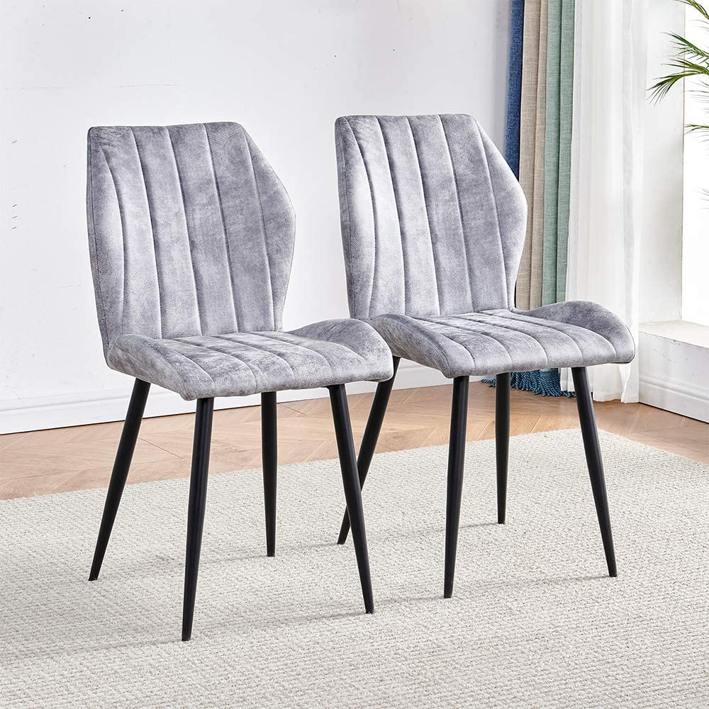 Finally resale start Modern Dining Room Chairs Grey Set Upholstered trend rank Matte 2 of Fabric