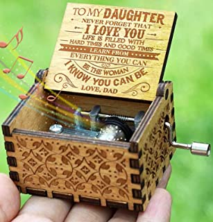 Engraved Music Box - You are My Sunshine, Gift for Daughter from Dad - Never Forget That I Love You
